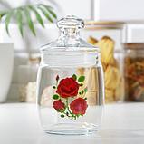 Банка для сыпучих продуктов «Cesni. Алая роза», 940 мл, фото 3