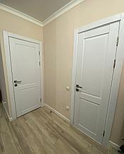 Дверь Corona ПГ, Ясень белый, телескопический погонаж