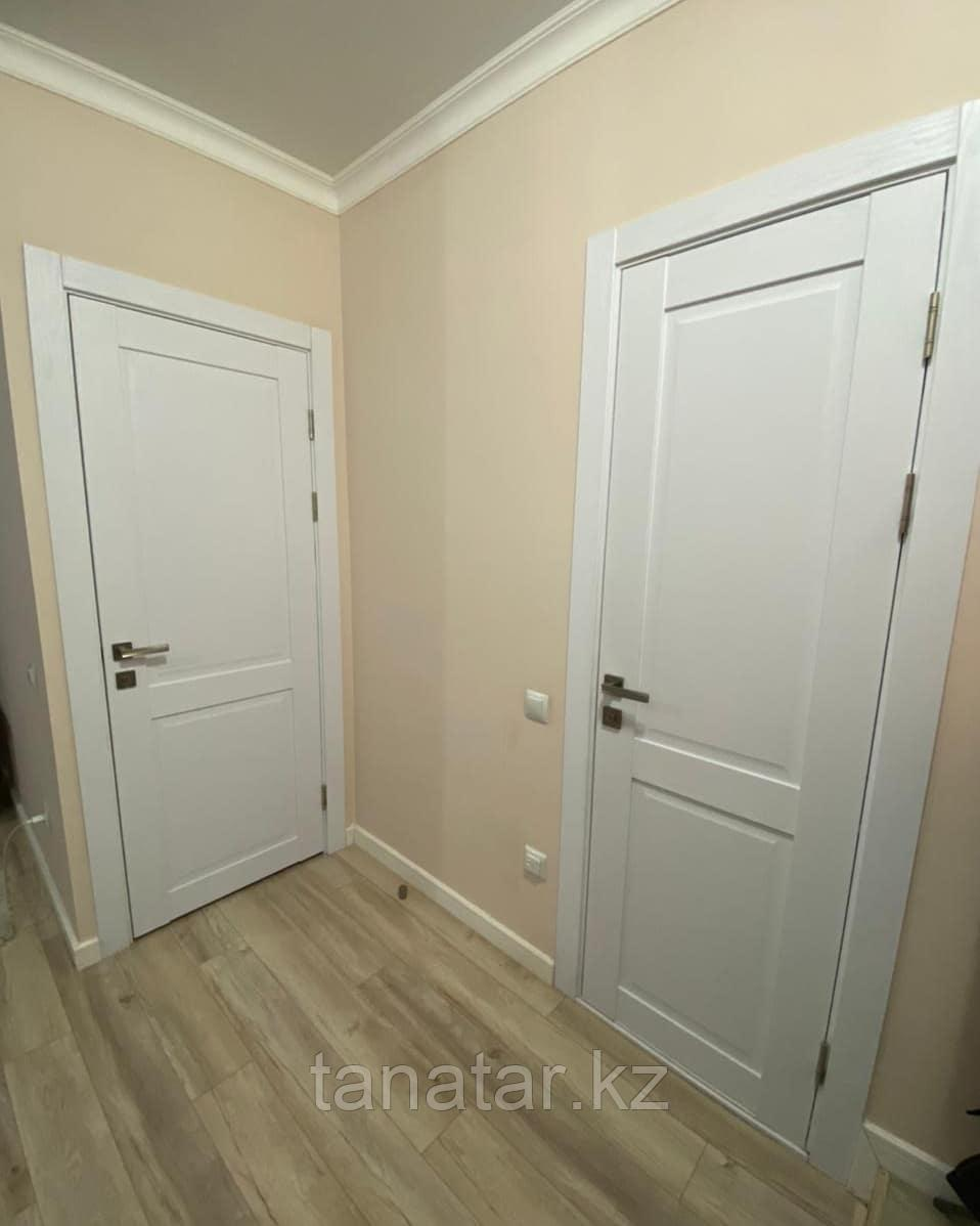 Дверь Corona 2 Стекло, Ясень белый, телескопический погонаж