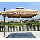 Зонт Banana квадратный (3х3м), бежевый (с 4-мя утяжелителями), фото 6