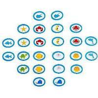 Noname Игра для детей Мемори «Морские животные» (24 фишки) арт. KnV22394