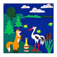 Noname Игра театр-сказка для детей «Лиса и журавль» (на поле), 50 на 50см арт. KnV18211