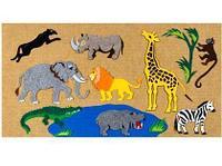 Noname Игра-пособие для детей «Африканские животные», 100 на 50см арт. KnV23176
