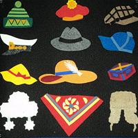 Noname Игра-пособие для детей «Головные уборы», 50 на 50см арт. KnV22414