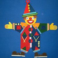Noname Игра-конструктор для детей «Клоун-2» (без поля), 60 на 70 см арт. KnV22419