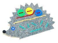 Noname Игра-шнуровка для слабовидящих детей «Ежик» (35х20см) арт. ИА18191