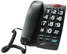 Reizen Телефон с крупными кнопками и регулируемым уровнем громкости (Reizen). Цвет - черный арт. ИА3731