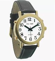 Noname Часы для слабовидящих людей с белым циферблатом на кожаном ремешке арт. ИА18215