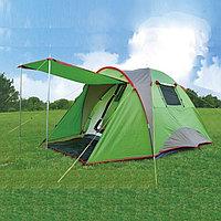 Четырехместная палатка водонепроницаемая двухслойная (115+205)x205x150 см Tuohai TH 1902