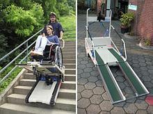 Noname Лестничный гусеничный мобильный подъемник по лестничному маршу для инвалидов Public
