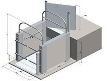 Noname Подъемная платформа для инвалидов с вертикальным перемещением (ЛИФТ-ПРО 450) арт.16846