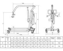 INVAPROM Подъемник передвижной для инвалидов с гидравлическим приводом ИПП-2Г арт. Ipr10718