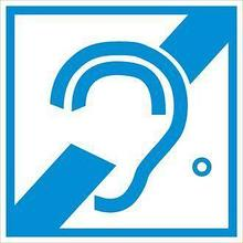 Noname Наклейка «Доступность для инвалидов по слуху» (знак доступности объекта) арт. ИА4395