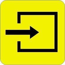 Noname Пиктограмма простая «Вход в помещения» арт. 4414