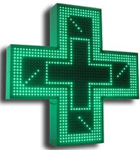 Noname Аптечный крест. Размер 1000х1000х150/130 м. Цвет свечения зеленый арт. КрС21981