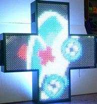 Noname Аптечный крест. Размер 1200х1200х150/130 мм. Цвет свечения - полноцветный арт. КрС21983