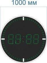 Noname Электронные часы-термометр круглые со светодиодными секундными «рисками» для улицы (Яркость светодиода