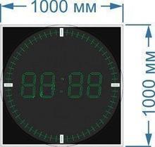 Noname Электронные часы-термометр со светодиодными секундными «рисками» для улицы (Яркость светодиода 2 кд. -