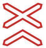 Noname Дорожный знак 1.3.2 многопутная железная дорога (Коммерческая пленка, тип А) арт. ДЗ20096