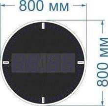 Noname Часы-термометр круглые со светодиодными секундными «рисками» для улицы (Яркость светодиода 2 кд. -