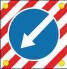 Noname Знак дорожный 4.2.1, 4.2.2, диаметр 1200 мм арт. ДЗ20253