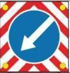 Noname Знак дорожный 4.2.1, 4.2.2, диаметр 1200 мм арт. ДЗ20254
