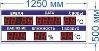 Noname Табло информационное №64 метео станция для бассейна арт. КрС22147