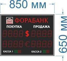 Noname Табло курсов с переменным знаком №2 на 4 знака в поле валют арт. КрС22171