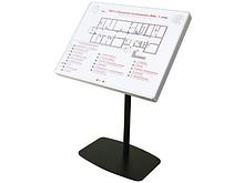 ИА Тактильно-звуковая мнемосхема 820х620 в комплекте с наклонной стойкой арт. ИА25045