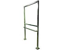 ИА Стойка металлическая с поручнем для уличного размещения или внутри помещения мнемосхемы арт. ИА25036