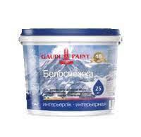 Краска водоэмульсионная GAUDI PAINT Белоснежка, 4 кг.