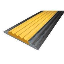 ИА Алюминиевая полоса с резиновой вставкой 3000 мм. Цвет вставки: желтый арт. ИА22210