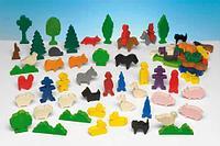 Noname Набор деревянных фигурок «Люди и животные» арт. RN18070
