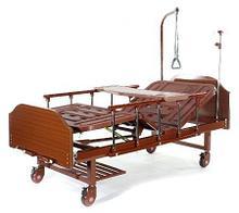 Noname Медицинская кровать Е-8 MM-118ПЛН (2 функции) ЛДСП с полкой и обеденным столиком арт. МдТМ24618
