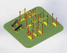 Noname ТВМ-001.00 Мобильный спортивный комплекс шведская стенка + турник + брусья + рукоход + скамья для