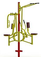 Noname Уличный тренажер «Тяга горизонтальная, верхняя и баттерфляй» ТУ-17 арт. PrG25095