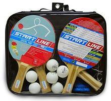 START LINE Набор: 4 Ракетки Level 100, 6 Мячей Club Select, Сетка с креплением, упаковано в сумку на молнии с