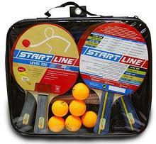 START LINE Набор: 4 Ракетки Level 200, 6 Мячей Club Select, Сетка с креплением, упаковано в сумку на молнии с