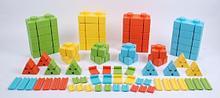 Noname Конструктор из мягких блоков с соединительными элементами WISE (76 эл-тов, 4 цвета) арт. RN23097