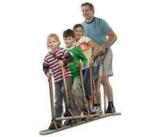 Педало Лыжи для двоих (длина 80 см, с креплением к ногам и лентой для обеспечения устойчивости) арт. RN17782