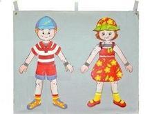 Noname Развивающее дидактическое панно «Одень мальчика и девочку» с набором одежды арт. DmL23821