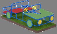 Noname Игровой комплекс «Машина 2-х местная 2» арт. DmL23736