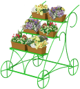 Noname Стойка для цветов «Карета» арт. DmL23753