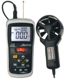 DT-620 Измеритель скорости и потока воздуха, пирометр