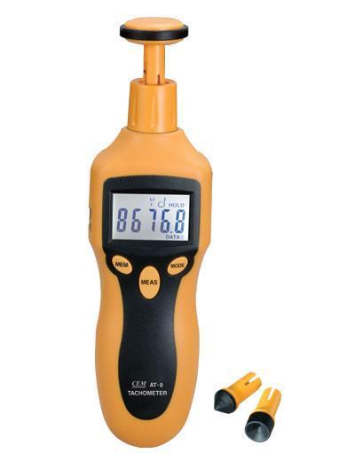 AT-8 Цифровой лазерный фототахометр, контактно-бесконтактный