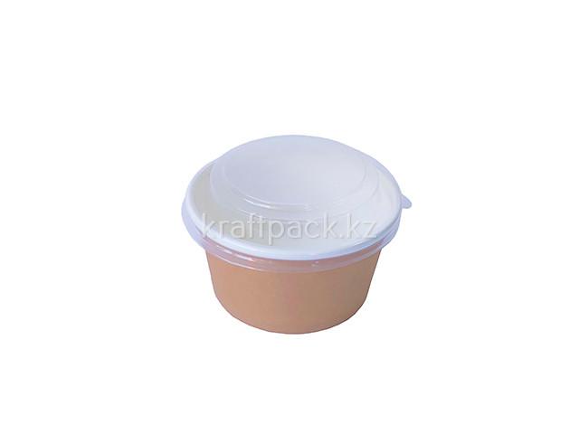 Контейнер Круглый, с прозрачной крышкой Eco Bowl 380 мл (50уп / 1000 кор)