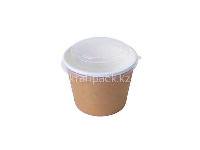 Контейнер Круглый, с прозрачной крышкой Eco Bowl 520 мл (50уп / 500 кор)