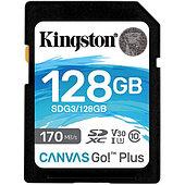 Карта памяти SD, Kingston Canvas Go! Plus, 128GB SDG3/128GB