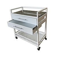 Столик медицинский передвижной с двумя выкатными ящиками