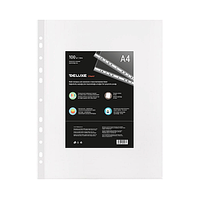 Файл-вкладыш пластик. Deluxe Clear A460M, A4, 60 мкм. (пакет 100 файлов)